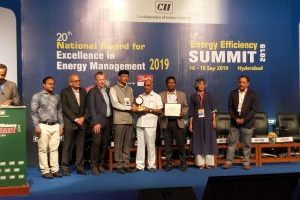 Sept2019: CII 20th National Award for Excellence in Energy Management 2019
